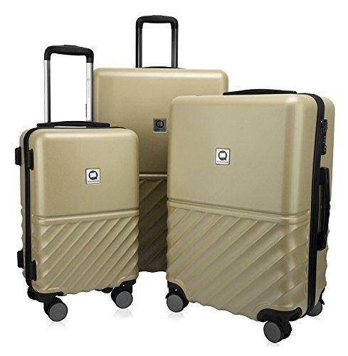 HAUPTSTADTKOFFER - Boxi - 3er Koffer-Set Trolley Rollkoffer Reisekoffer TSA, 4 Rollen, (S, M & L), 75 cm, 207 L, Gold