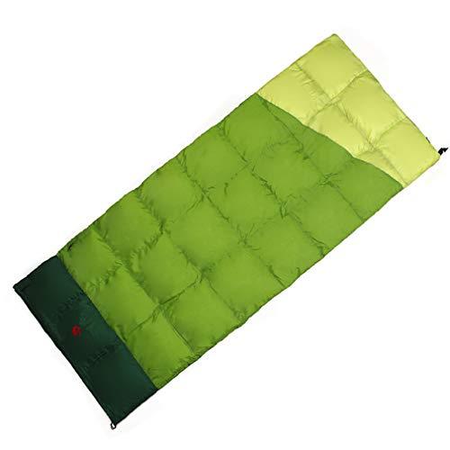 DUBAOBAO Outdoor-Schlafsack Füllung 400 Gramm Auf Camping-Spezial Schlafsack + Wasserdichtes Nylon Nur 800G-Kinder-Jugend-Schlafsack,Green