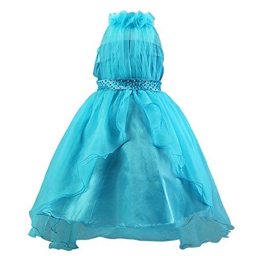 Katara 1342 - Schleier Blumen Mädchen festliches Abend Kleid, 104/110, blau, (Herstellergröße: (Prinzessin Kostüme Rosalina)
