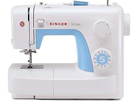 Singer MC Simple 3221 Machine à coudre 21 programmes blanche et bleue - Tessuto Abbellire