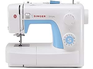 Singer MC Simple 3221 Machine à coudre 21 programmes blanche et bleue