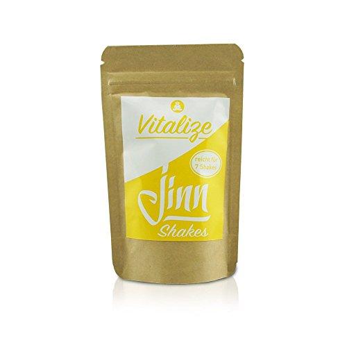 Jinn Shakes Vitalize Mini | Protein-Shake Mischung aus 6 Superfood Bio- Zutaten | morgendlicher Energiekick | Powerdrink für Gehirn, Detox, Fitness | Bio– zertifizierte Qualität | vegan, glutenfrei, laktosefrei | ohne Zusatzstoffe | 35g