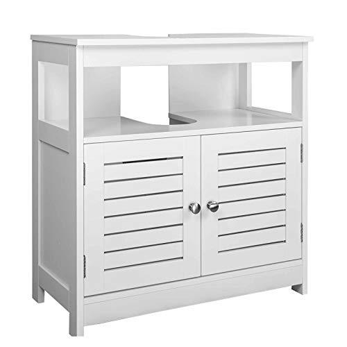 EUGAD Armario Bajo Lavabo Mueble para Debajo de Lavabo Mueble Lavabo de Baño Almacenamientocon 2 Puertas...
