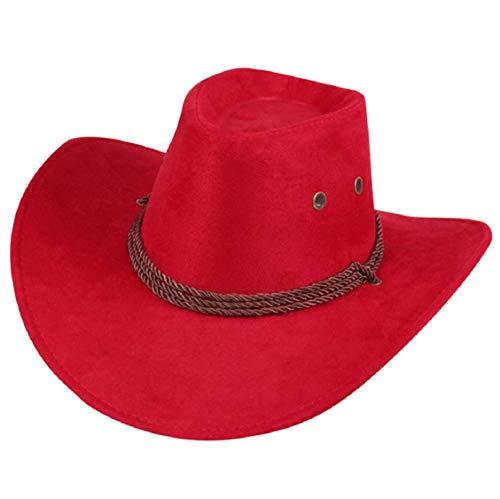 Koojawind Unisex MäNner/Frauen Western Cowboy Bucket Brim Cap Sonnencreme Ritter Denim Hut Western Cowboy Hut Lady Jazz Cowgirl Wide Brim Herren Cowboy Hut (Le Jazz Hot Kostüm)