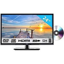 HKC 24C2NBD: 60,50 cm (24 Pouces) LED téléviseur avec Lecteur DVD (HD Ready, Triple Tuner, Lecteur multimédia Via Port USB) [Classe énergétique A+]