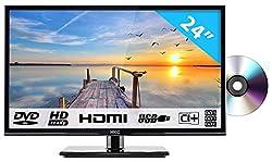 HKC 24C2NBD: 60,50 cm (24 Zoll) LED Fernseher mit DVD-Player (HD Ready, Triple Tuner, CI+, HDMI, Mediaplayer via USB 2.0) [Energieklasse A+]