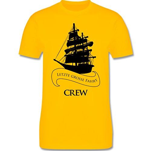 JGA Junggesellenabschied - Crew Letzte große Fahrt - Herren Premium T-Shirt Gelb