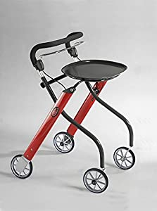 Lets Go Indoor Rollator - Red
