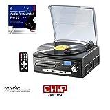 auvisio Musikanlage: Kompakt-Stereoanlage MHX-550.LP für Schallplatte, CD, MC, MP3 (Plattenspieler CD Kassette Radio)