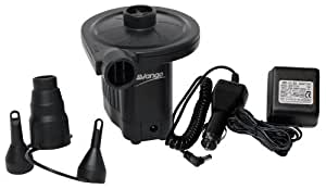 Vango Electric Pump - AC/DC Airbed Camping Pump - Black