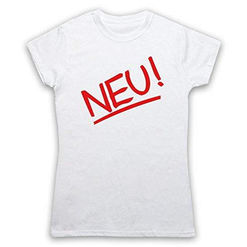 Inspiriert durch Neu Band Logo Unofficial Damen T-Shirt Weis