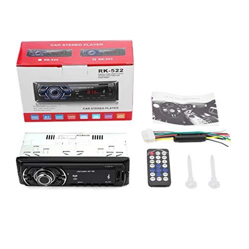 Tree-on-Life Auto-Audio-Stereo-Empfänger Single DIN In Dash 12V FM-Empfänger MP3-Radio-Player mit Fernbedienung 60Wx4