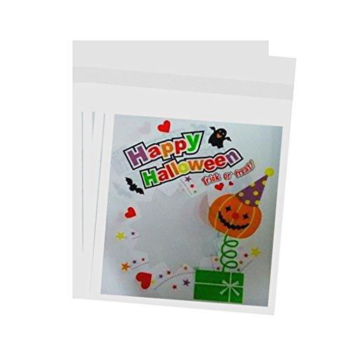 SunniMix DIY Süßigkeiten Halloween Kürbis Geschenke Taschen Cookies Party Packaging Taschen Pop 100x - Fröhliches Halloween