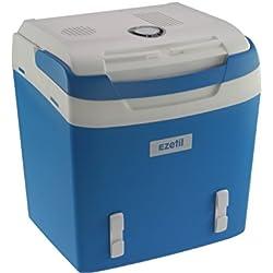 Ezetil 10776870Glacière électrique E 26m 12/230V Sangle Fixation, Classe d'efficacité énergétique A + +, Bleu Acier 24L