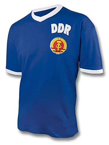 Kulttrikots DDR Retro Shirt Trikot WM 1974 blau, XXL