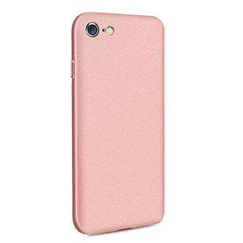 vanki® iPhone 6/6s hülle Matt Hart PC Tasten Kunstleder Schutzhülle Case Cover Bumper Handyhülle für iPhone 6/6s (4,7 Zoll) (Rose gold) Rose Gold