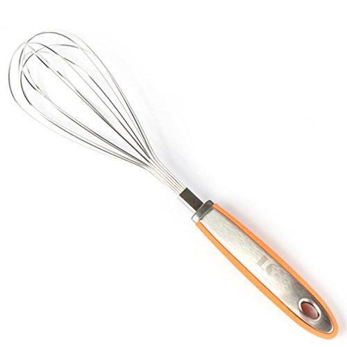 Zantec Edelstahl Küchen Ballon Schneebesen Handmischer Ei Schläger Mischmaschine mit Silikon Griff