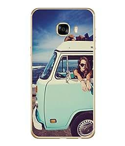 PrintVisa Designer Back Case Cover for Samsung Galaxy C7 SM-C7000 (We Love To Travel Cool Design)