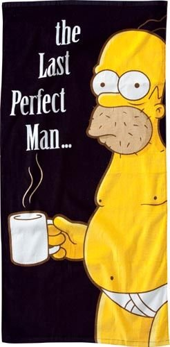 unitedlabels-0806132-homer-last-perfect-man-the-simpson-drap-de-bain