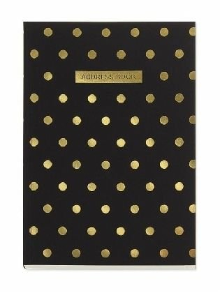Shimmer Midi Polka Black Address book