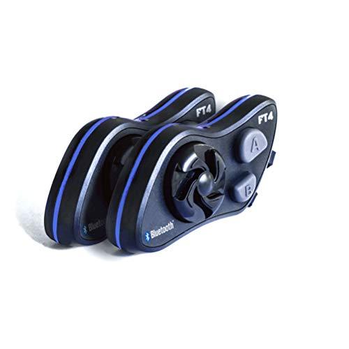 LEXIN FT4FM Auriculares Intercomunicador Moto Bluetooth, intercomunicador Casco Moto con FM, Comunicación Intercom cancelación de Ruido, Manos Libres para Moto ATV, comunicador Moto para 4 Moteros