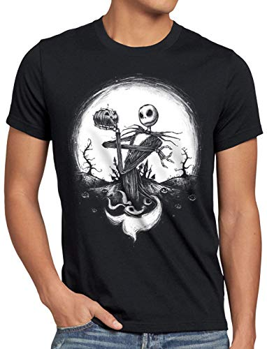 (CottonCloud Jack Skellington Herren T-Shirt Christmas Before Nightmare, Größe:L)