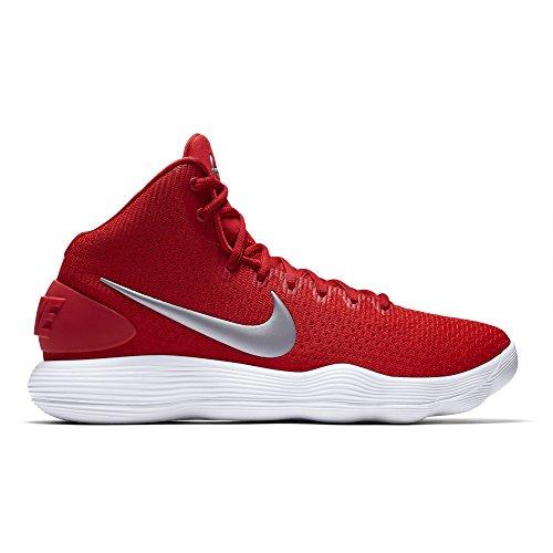 1a5515440bef NIKE Men s Hyperdunk 2017 TB Basketball Shoe University Red Metallic  Silver White Size 14