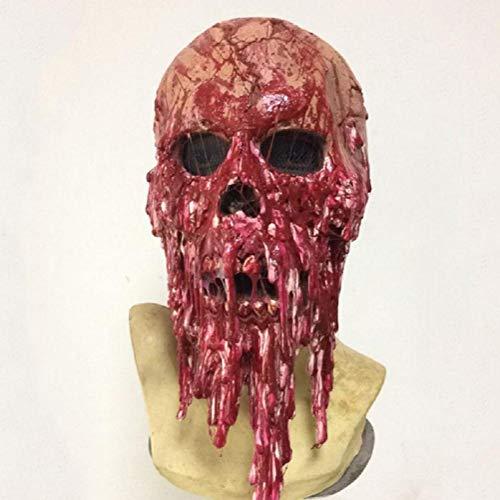 HAOBAO Einzigartige blutige Halloween Maske Neuheit Latex Gummi Gruselige Horror Kopf Masken Gesicht Frightful Nightmare für Halloween Kostüm Party Dekoration Zubehör (Tag Der Verfassung Kostüm)