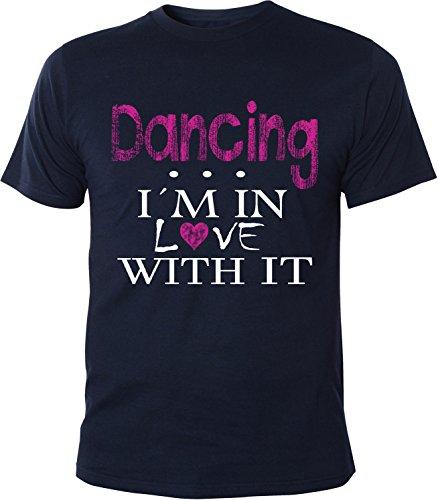 Mister Merchandise Herren Men T-Shirt Dancing - I´m in love Tee Shirt bedruckt Navy