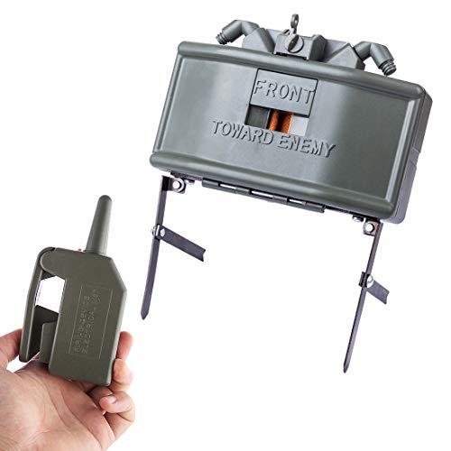 Toby Remote Detonation Device Launcher Wasserbomben Ferndetonation Landmine Startprogramm Granatenwerfer Spielzeug Claymore für Nerf Spiel (Mine Airsoft)