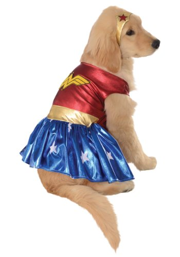 MyPartyShirt Wonder Woman Pet Costume -Dog XL (Pet Kostüm Für Wonder Woman)