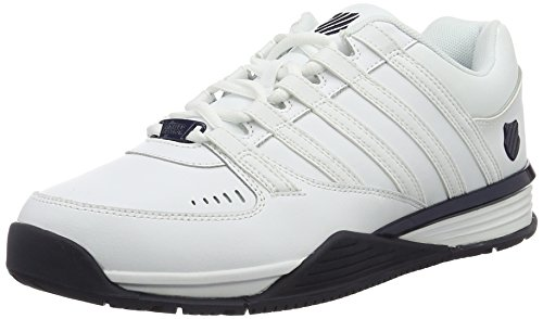 K-Swiss Herren Baxter Low-Top, Weiß (White/White/Navy 959), 42 EU