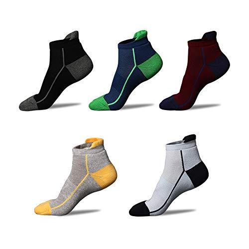 Anliceform Calzini Uomo in cotone Taglio Basso (Caviglia), alla moda, Calze casual, materiale cotone pettinato Premium alta qualità (Colore 6 (5 Coppie), 38-43)