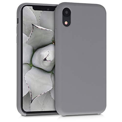 kwmobile Apple iPhone XR Hülle - Handyhülle für Apple iPhone XR - Handy Case in Titanium Grey Iphone Silicon Skin Cover