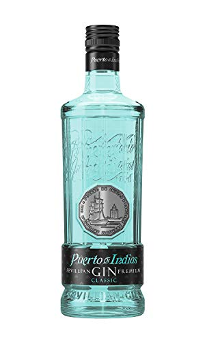 1. Puerto de Indias Gin Classic - Ginebra azulada