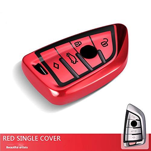 ZYYSK Für Schlüsselabdeckungs-Fall-Halter Für BMW-Schlüsselkasten 1 3 5 6 7 Serie X1 X3 X4 X5 X6 F10 F20 F30 335 328 535 650 Fernschlüsseloberteil-Schlüsselabdeckung,Blade red Single -