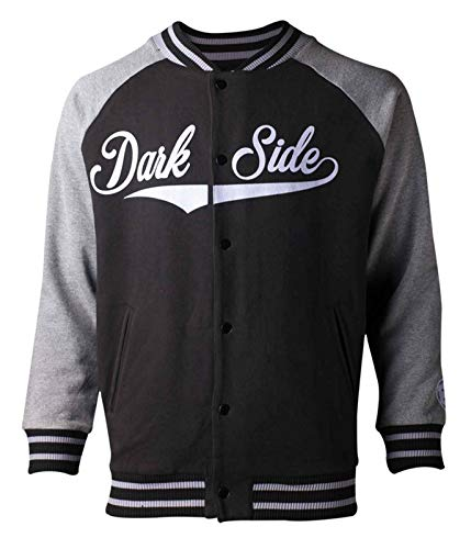 Star Wars Baseball-Jacke Dark Side Logo Nue offiziell Herren Varsity Varsity Jacke Patches