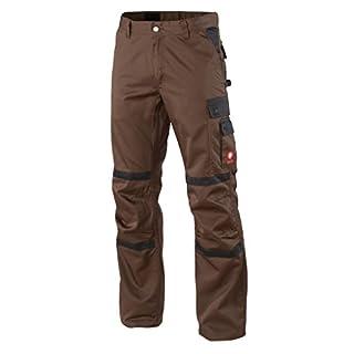 Krähe Arbeitshose Profession Pro Herren – angenehm & strapazierfähig, 8 Taschen, vorgeformte Kniepolstertaschen in braun Größe 50