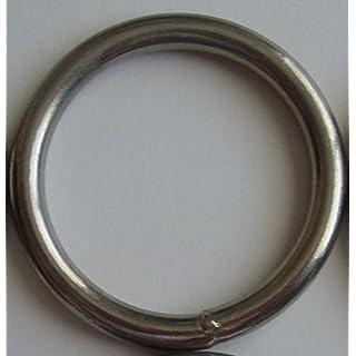 Springfield Leder COMPANY 3Nickel Teller geschweißtem rund Ring von amazing Draperie Hardware