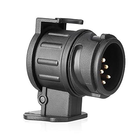Waterproof Towbar 13 Pin To 7 Pin Adapter Trailer 12V Towing Caravan Truck Electrical Converter