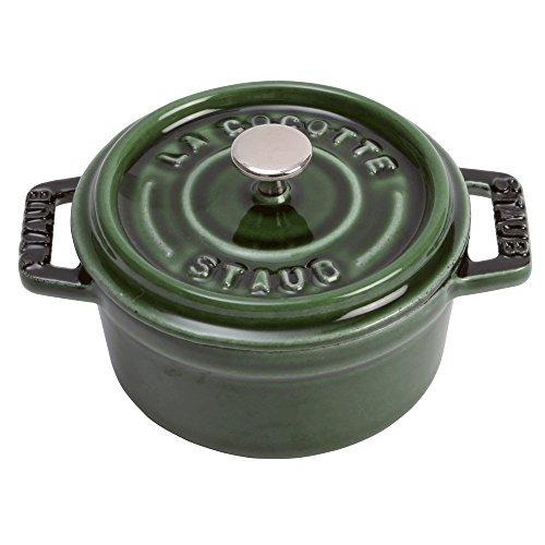 STAUB-Mini CC Ronde 10cm Majolique Basilic 1101085 Mini Round Cocotte