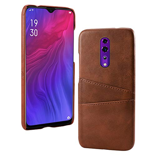 Obamono Card Holder Case Fit for Oppo Reno Z, Oppo Reno Z Cell Phone Cases Back Shell Wallet Case Slim Folio Leather Case Cover Shockproof Case with Card Slot, Durable Protective Case for -