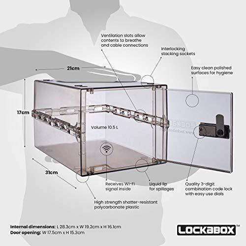 41%2B7NqpPTNL - Lockabox One | Caja de seguridad compacta e higiénica para alimentos, medicinas y seguridad en el hogar