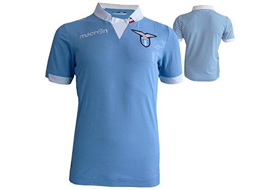 Macron Lazio Rom Home Fußball Jersey 2014/15 Spieler Fußball Fan Trikot hellblau Fussballshirt Biancocelesti Lega Calcio, Größe:XXL