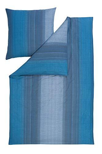 Estella Feinflanell Bettwäsche Ritten petrol 1 Bettbezug 135 x 200 cm + 1 Kissenbezug 80 x 80 cm -