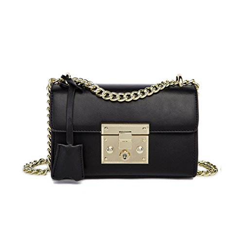 Donne Cuoio Genuino Retro Anti-Theft Mini Singola Spalla Crossbody Bag. Black2