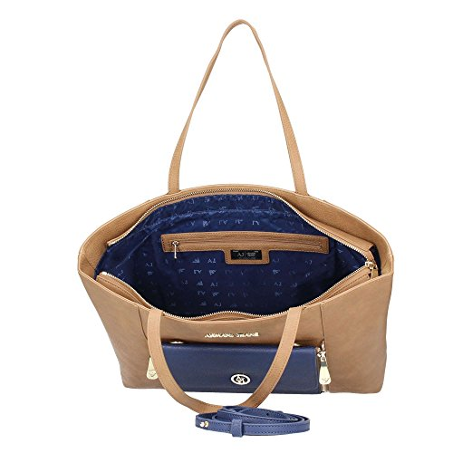 ARMANI JEANS 2IN1 SHOPPING BAG 9220566A724 12855 WARMSAND/PATRIOT BLU