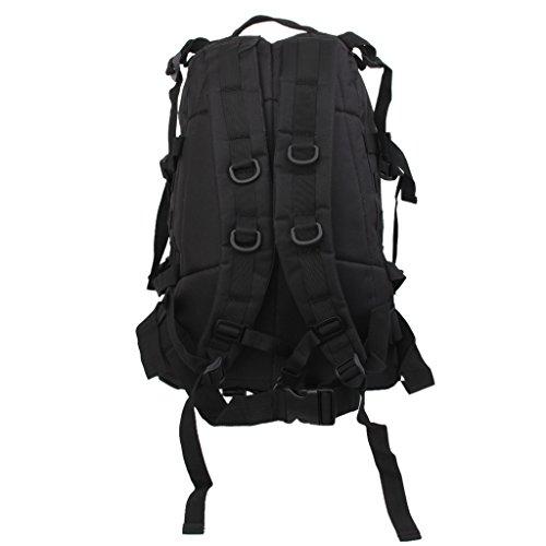3D 40l Wasserdichter Taktischer Militärischer Rucksack Tasche Wanderrucksack Outdoor Reisen Schwarz