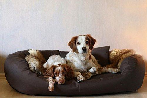 tierlando® A1-01 ARES Extra ROBUST Hundesofa Hundebett Gr.XL110cm Braun