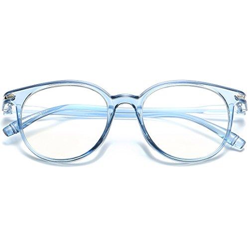 VEVESMUNDO Anti blaulicht Computer Brille Ohne Sehstärke Hornbrille Nerdbrille Damen Herren Retro...